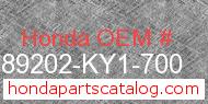 Honda 89202-KY1-700 genuine part number image