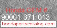 Honda 90001-371-013 genuine part number image