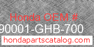 Honda 90001-GHB-700 genuine part number image