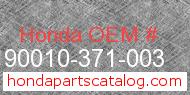 Honda 90010-371-003 genuine part number image