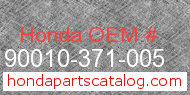 Honda 90010-371-005 genuine part number image
