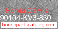 Honda 90104-KV3-830 genuine part number image