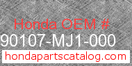 Honda 90107-MJ1-000 genuine part number image