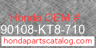 Honda 90108-KT8-710 genuine part number image