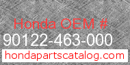 Honda 90122-463-000 genuine part number image