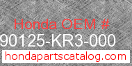 Honda 90125-KR3-000 genuine part number image