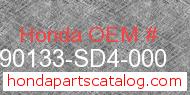 Honda 90133-SD4-000 genuine part number image