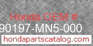 Honda 90197-MN5-000 genuine part number image