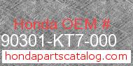 Honda 90301-KT7-000 genuine part number image