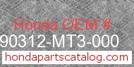 Honda 90312-MT3-000 genuine part number image