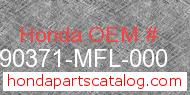 Honda 90371-MFL-000 genuine part number image