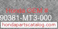 Honda 90381-MT3-000 genuine part number image