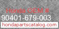 Honda 90401-679-003 genuine part number image