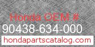 Honda 90438-634-000 genuine part number image
