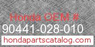 Honda 90441-028-010 genuine part number image
