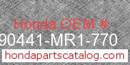 Honda 90441-MR1-770 genuine part number image