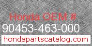 Honda 90453-463-000 genuine part number image