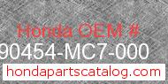 Honda 90454-MC7-000 genuine part number image