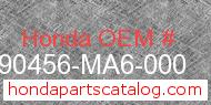 Honda 90456-MA6-000 genuine part number image