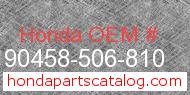 Honda 90458-506-810 genuine part number image