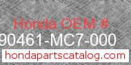 Honda 90461-MC7-000 genuine part number image