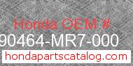 Honda 90464-MR7-000 genuine part number image