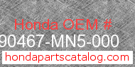 Honda 90467-MN5-000 genuine part number image