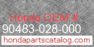 Honda 90483-028-000 genuine part number image