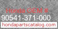 Honda 90541-371-000 genuine part number image