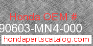 Honda 90603-MN4-000 genuine part number image