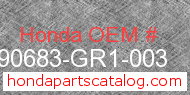 Honda 90683-GR1-003 genuine part number image