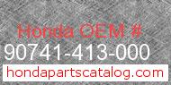 Honda 90741-413-000 genuine part number image