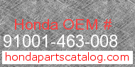 Honda 91001-463-008 genuine part number image