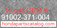Honda 91002-371-004 genuine part number image