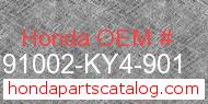 Honda 91002-KY4-901 genuine part number image