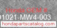 Honda 91021-MW4-003 genuine part number image