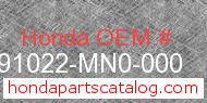 Honda 91022-MN0-000 genuine part number image