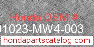 Honda 91023-MW4-003 genuine part number image