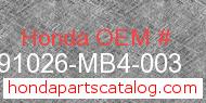 Honda 91026-MB4-003 genuine part number image