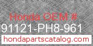Honda 91121-PH8-961 genuine part number image