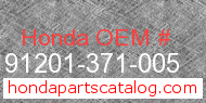 Honda 91201-371-005 genuine part number image