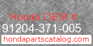 Honda 91204-371-005 genuine part number image