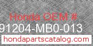 Honda 91204-MB0-013 genuine part number image