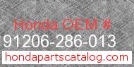 Honda 91206-286-013 genuine part number image