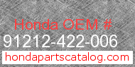 Honda 91212-422-006 genuine part number image