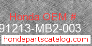Honda 91213-MB2-003 genuine part number image