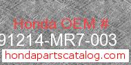 Honda 91214-MR7-003 genuine part number image