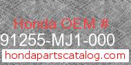 Honda 91255-MJ1-000 genuine part number image