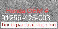 Honda 91256-425-003 genuine part number image