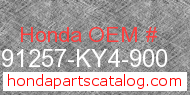 Honda 91257-KY4-900 genuine part number image